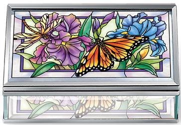 Amia 40016N Iris Meadows Jewelry Box