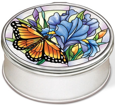 Amia 40017 Iris Meadows Oval Petite Jewelry Box