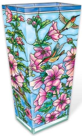 Amia 40029 Cottage Garden Hollyhocks Large Vase