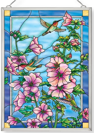 Amia 40033 Cottage Garden Hollyhocks Panel