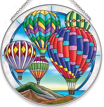 Amia 40049N Hot Air Balloons Large Circle Suncatcher