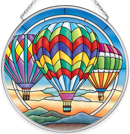Amia 40058 Hot Air Balloons Medium Circle Suncatcher