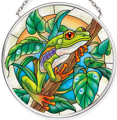 Amia 40073N Forest Frog Small Circle Suncatcher