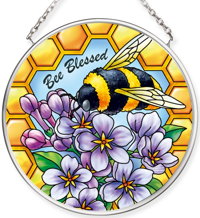 Amia 40075N Bee Bee Blessed Small Circle Suncatcher