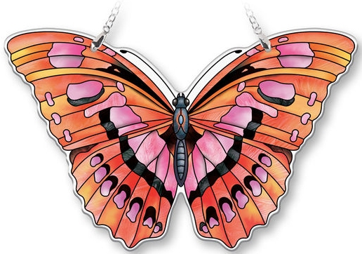 Amia 40076N Ruby Large Butterfly Suncatcher