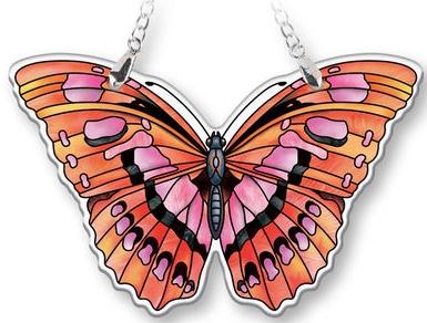 Amia 40078N Ruby Butterfly Suncatcher