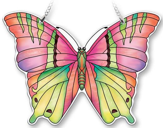 Amia 40079 Opal Large Butterfly Suncatcher