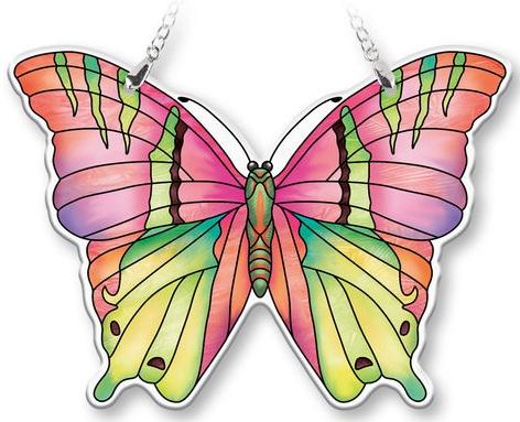 Amia 40080 Opal Medium Butterfly Suncatcher