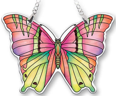 Amia 40081 Opal Butterfly Suncatcher