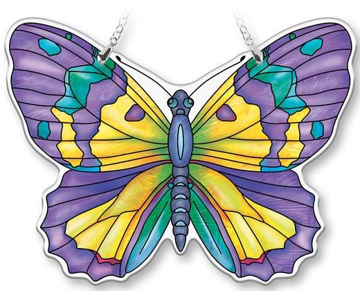 Amia 40082N Amethyst Large Butterfly Suncatcher
