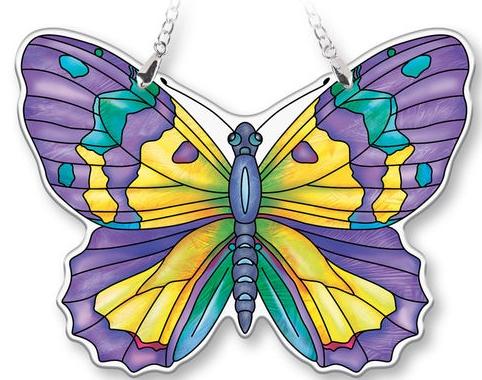 Amia 40083N Amethyst Medium Butterfly Suncatcher