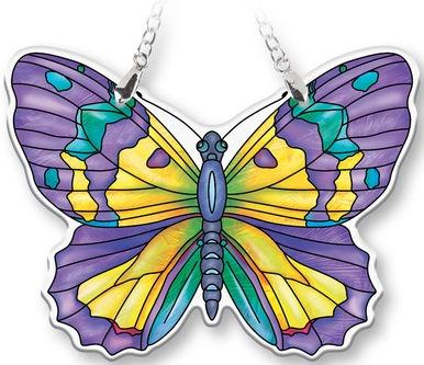 Amia 40084 Amethyst Butterfly Suncatcher