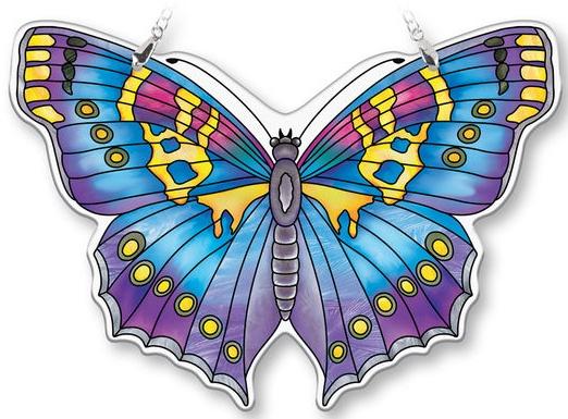 Amia 40085N Sapphire Large Butterfly Suncatcher