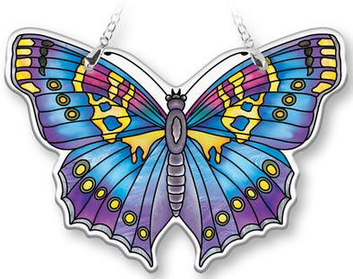 Amia 40087 Sapphire Butterfly Suncatcher