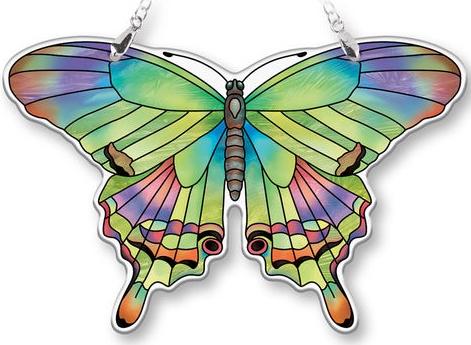 Amia 40089N Peridot Medium Butterfly Suncatcher