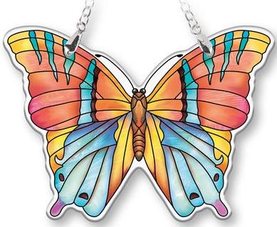 Amia 40093 Topaz Butterfly Suncatcher