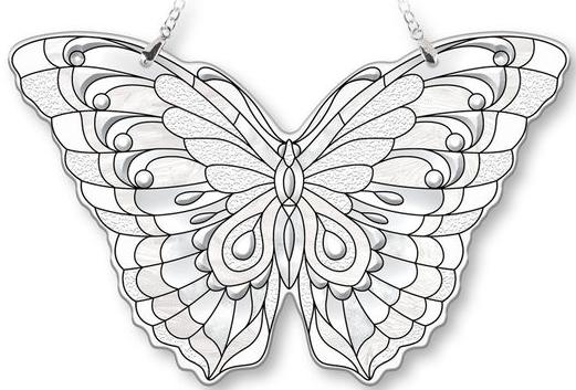 Amia 40094 Diamond Large Butterfly Suncatcher