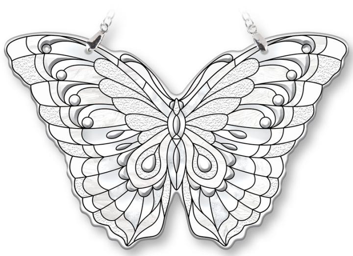Amia 40095 Diamond Medium Butterfly Suncatcher
