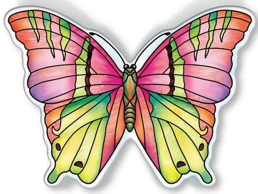 Amia 40098 Garden Jewels Opal Butterfly Magnet