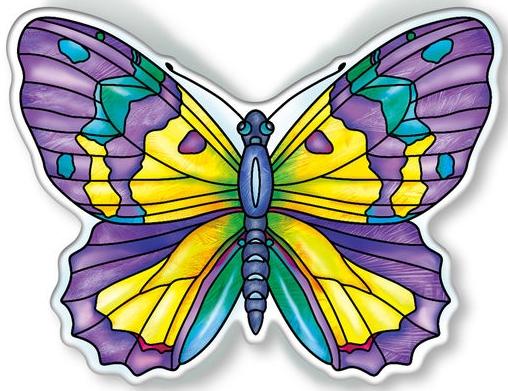Amia 40099 Garden Jewels Amethyst Butterfly Magnet