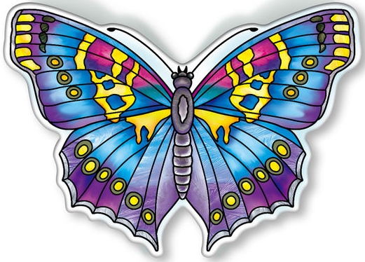 Amia 40100 Garden Jewels Sapphire Butterfly Magnet