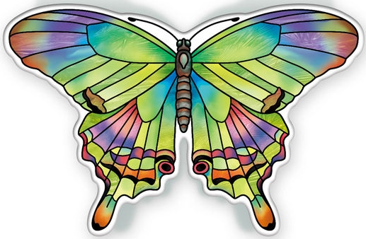Amia 40101 Garden Jewels Peridot Butterfly Magnet