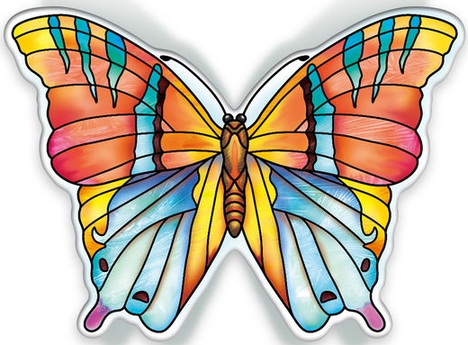 Amia 40102 Garden Jewels Topaz Butterfly Magnet