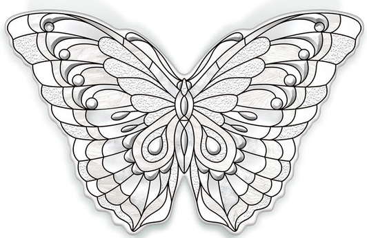 Amia 40103 Garden Jewels Diamond Butterfly Magnet