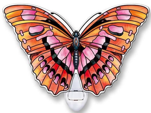 Amia 40104 Ruby Butterfly Night Light Nightlight