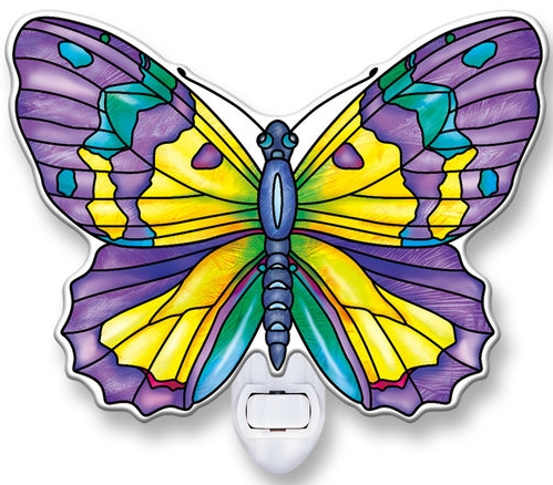Amia 40106N Amethyst Butterfly Night Light Nightlight