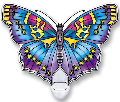 Amia 40107 Sapphire Butterfly Night Light Nightlight