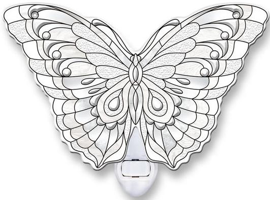 Amia 40110 Diamond Butterfly Night Light Nightlight