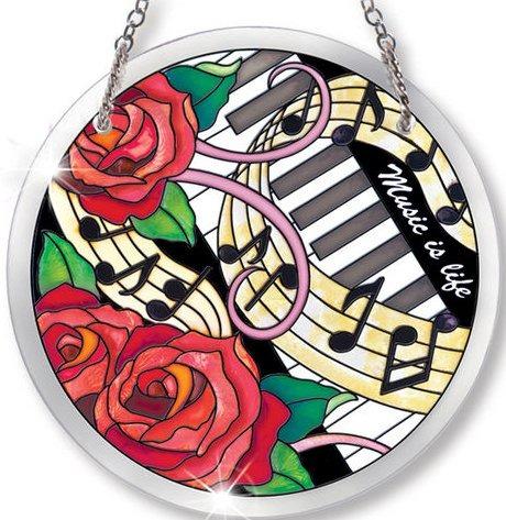 Amia 41039 Music Is Life Medium Circle Suncatcher