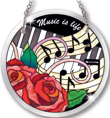 Amia 41040 Music Is Life Small Circle Suncatcher