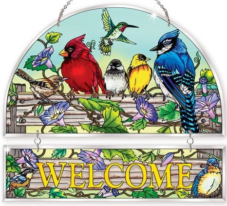 Amia 41048 Rail Birds Beveled Welcome Panel