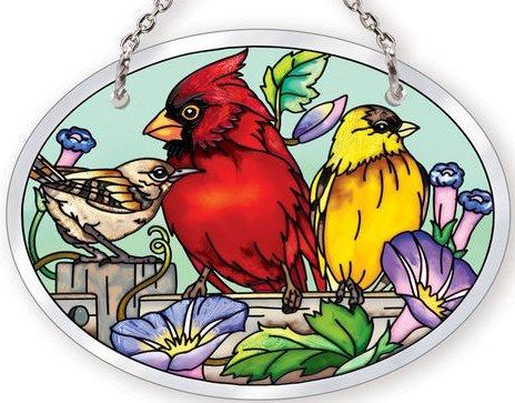 Amia 41055 Rail Birds Small Oval Suncatcher