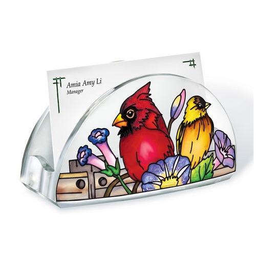 Amia 41060 Rail Birds Acrylic Business Card Holder