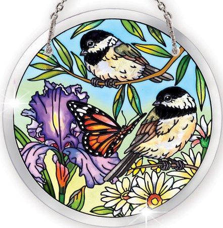 Amia 41072 Chickadee Garden Medium Circle Suncatcher