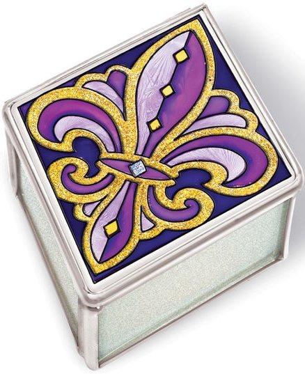 Amia 41099 Purple and Gold Medium Jewelry Box