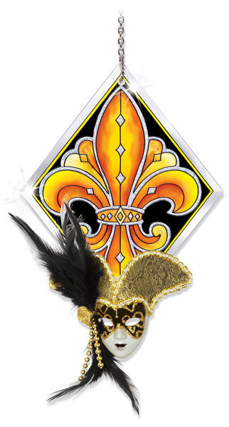 Amia 41106 Black & Gold Diamond Shape Suncatcher