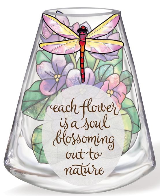 Amia 41174 Violet Vase Inspirational