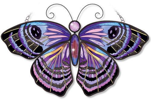 Amia 41203 Purple Washed Eyemark Butterfly Suncatcher