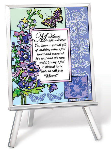 Amia 41225 Mother In Law Beveled Glass Easel and Plaque