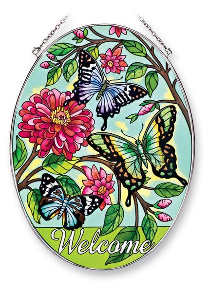 Amia 41243 Papillons Large Oval Suncatcher