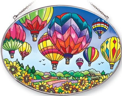 Amia 41253 Up and Away Large Oval Suncatcher