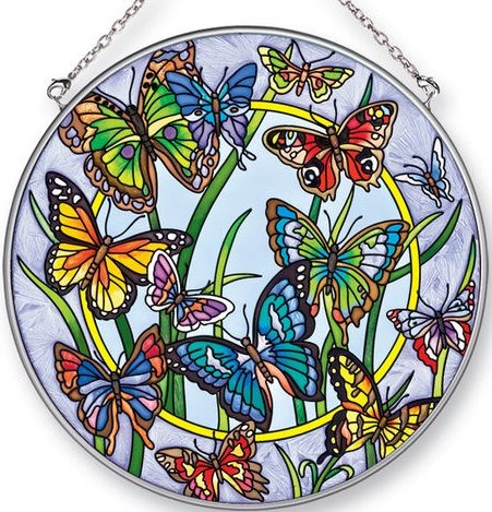Amia 41307 Butterfly Dancing Large Circle Suncatcher