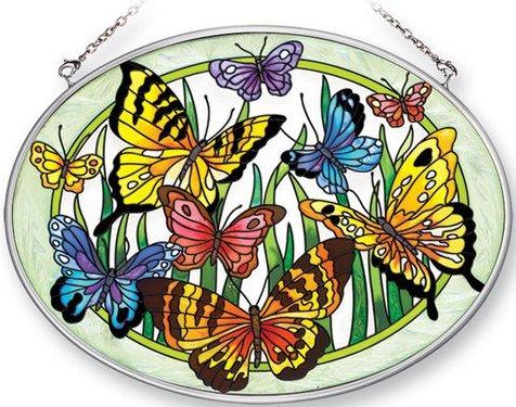 Amia 41381 Butterfly Surprise Medium Oval Suncatcher