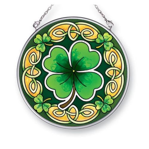 Amia 41401 Celtic Leaves Medium Circle Suncatcher