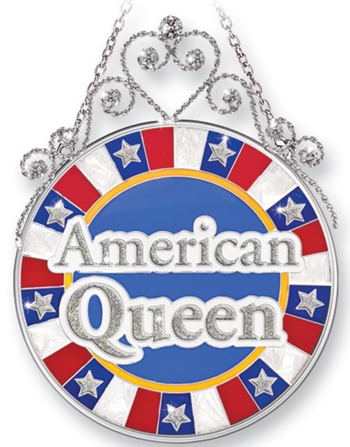 Amia 41402 American Queen Medium Circle Suncatcher