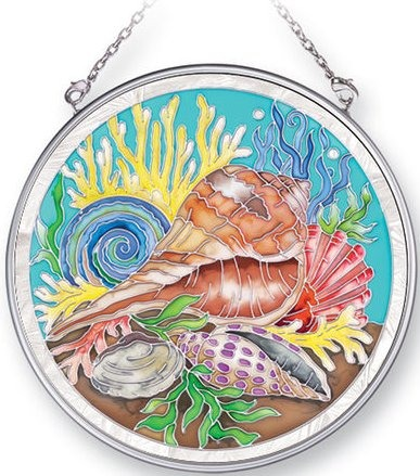 Amia 41413 Nature's Color Whelk Medium Circle Suncatcher